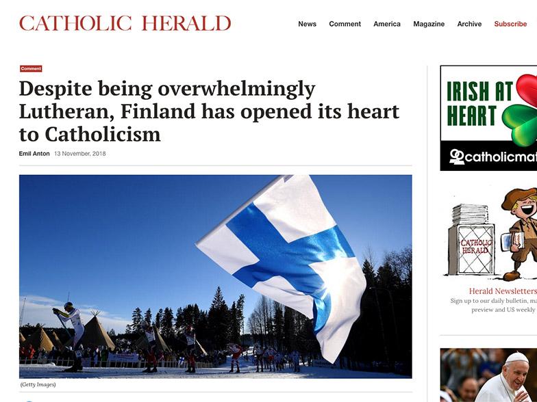 Suomea esitellään Catholic Heraldissa